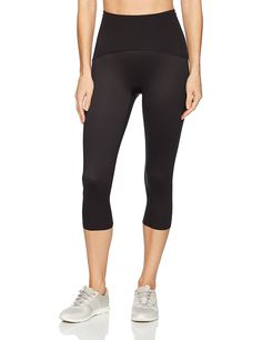 Spanx Active Women's Shaping Compression Knee Pant Black Pants at Amazon Women's Clothing store: