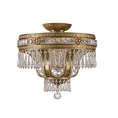 Paris Flea Crystal Semi-Flush Ceiling Light