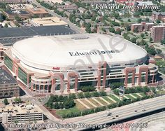 Edward Jones Dome St Louis MO..Love to watch the Lamar Tigers win state championships there!  4 in a row!