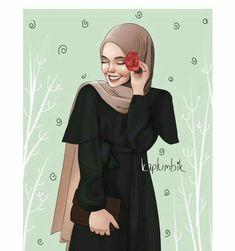 """Oysa ben bir akşamüstü oturup turuncu bir yangının eteklerine, yüreği … ""However, I sit down in the afternoon and consume the world and myself with a life companion beating the heart of an orange fire in the palm of my hand… Couple Sketch, Girl Sketch, Cartoon Drawings, Cute Drawings, Sarra Art, Hijab Drawing, Cute Muslim Couples, Islamic Cartoon, Anime Muslim"