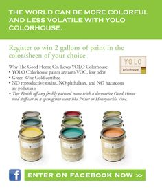 We have partnered with The Good Home Co on a Spring Cleaning giveaway! Enter to win two gallons of paint in the color & sheen of your choice. color, paint
