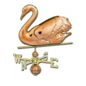 Swan 3-D Copper Weathervane