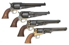 Lot of Four Modern Reproduction Black Powder Revolvers