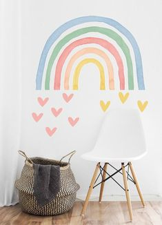 home decor bedroom Horse Wall Decals, Nursery Wall Decals, Bedroom Wall, Vinyl Decals, Wall Vinyl, Wall Art, Rainbow Bedroom, Rainbow Room Kids, Rainbow Wall Decal