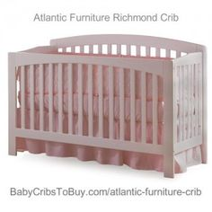 Atlantic Furniture Richmond Convertible Crib, Natural Maple (Discontinued by Manufacturer) Atlantic Furniture, Convertible Crib, Baby Cribs, Hardwood, Nursery, Bed, Home Decor, Natural, Color
