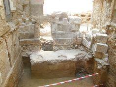 Interior del cubo de la muralla romana en calle Mártires 2-4 de Zaragoza