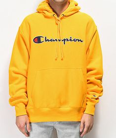 25fec881e333 Champion Reverse Weave Gold Chainstitch Hoodie