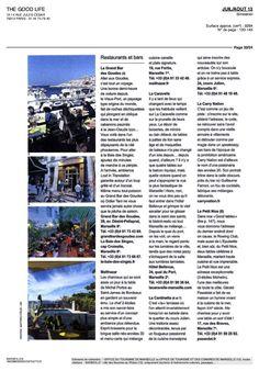 TH GOOD LIFE juillet 2013 Bar Restaurant La Caravelle Marseille www.lacaravelle-marseille.com