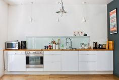 white with wooden bench tops is a current winner