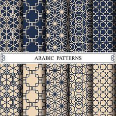 Vector Art : arabic vector pattern,pattern fills, web page background,surface