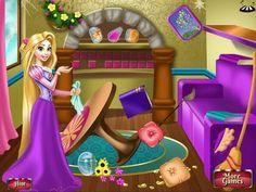 Tangled Rapunzel Room Cleaning - Disney Princess Rapunzel Games