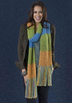 Trilogy Scarf: free easy level crochet pattern