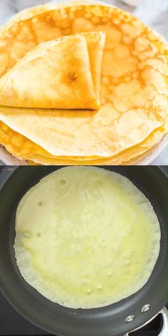 The perfect crepe recipe - SO easy to make and completely delicious! The best part about these crepes is they can be made right in your blender. Not only are they great for breakfast, but dessert too! Easy Crepe Recipe, Crepe Recipes, Crepe Recipe For One, Sweet Crepes Recipe, Breakfast Recipes, Dessert Recipes, Sweet Breakfast, Breakfast Dessert, Mexican Breakfast