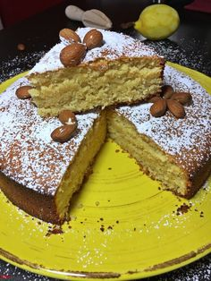 Mandel-Zitronenkuchen…glutenfrei - Mandelkuchen Mandelkuchen Mandelkuchen Welcome to our website, We hope you are satis - Lemon Desserts, Fall Desserts, Healthy Dessert Recipes, Smoothie Recipes, Cake Recipes, Easter Desserts, Gluten Free Almond Cake, Almond Cakes, Gluten Free Cakes