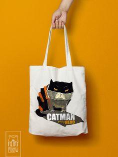"""Torba bawełniana """"Catman"""" - FajnyMotyw - Torby na ramię"""