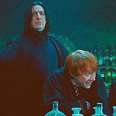 "Snape's not even looking at Ron, he's just like ""I'm too good to look at you, orange one."""