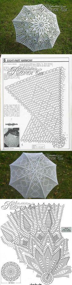Вяжем зонты - мк от Ровенской Татьяны   Аксессуары   Постила