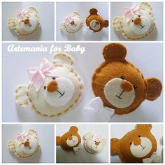 Dellicatess for Babies: chaveiros Baby Shower Party Favors, Baby Shower Parties, Baby Boy Shower, Party Favours, Felt Crafts Diy, Craft Gifts, Crafts For Kids, Felt Christmas, Christmas Crafts