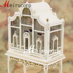 Fine 1 12 Scale Dollhouse Miniature Furniture Well Made Handmade Grand Birdcage | eBay