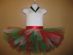 Merry Christmas Tutu Dress, Super Fluffy, Toddler 12M-5T. $25.00, via Etsy.