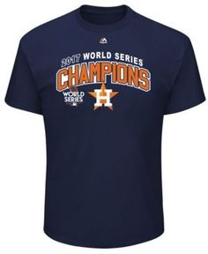Majestic Men's Houston Astros 2017 World Series Champ Roster of Jerseys T-Shirt - Blue XXL