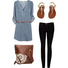 A simple outfit for spring.