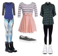 """School Outfits"" by kat-21 on Polyvore"