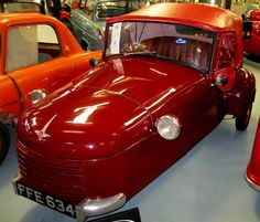 1951 #Bond MkB British #microcar #coolcars QuirkyRides.com has a MkC & 2 MkFs for restoration.