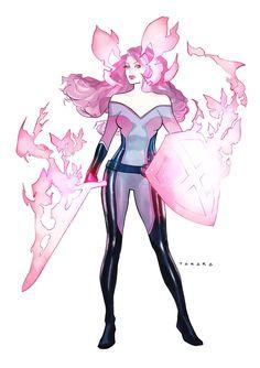 Psylocke - Betsy Braddock by Marcio Takara * Comic Book Characters, Marvel Characters, Comic Character, Comic Books Art, Character Concept, Fantasy Characters, Marvel Art, Marvel Comics, Arte Nerd