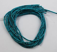 Vintage blue turquoise 3mm heishe beads