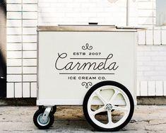 ice cream cart design idea - Jessica Jansen - Beyond Binary Coffee Carts, Coffee Truck, Coffee Shop, Gelato, Ice Cream Business, Food Cart Design, Ice Cream Packaging, Mobile Catering, Food Kiosk