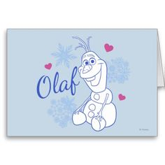 Olaf and Snowflakes Cards