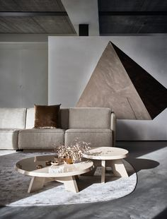 Piet Boon Styling by Karin Meyn | The Doutzen sofa with the Itske Coffee tables - Piet Boon Collection. Credits: Arjan Benning Interior Design Images, Interior Design Elements, Modern Interior, Garden Architecture, Interior Architecture, New Furniture, Table Furniture, Small Tables, Sofa Design