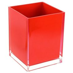 The #Red #Sale - Free Standing Waste Basket With No Cover in Red Finish (Gedy RA09-06) - Sale expires 12/6/13 at 11:59 p.m. EST