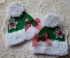 Christmas Hat Embellishments-Set Of 2-Green on Etsy, $4.79