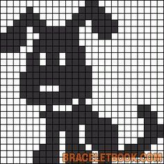 Made Pattern: Puppy filet crochet baby blanket. Filet Crochet, Crochet Patterns Filet, Crochet Chart, Baby Knitting Patterns, Knitting Charts, Knitting Stitches, Knitting Wool, Fair Isle Knitting, Cross Stitch Charts