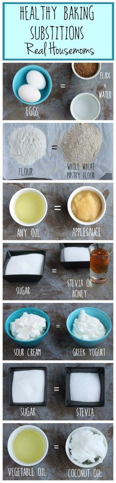 Healthy Baking Substitutions - Baking Hacks and DIY Ideas for Cooking and Recipes