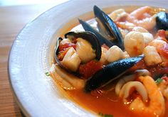 Simple Seafood Stew   Seasonal & Savory... super simple! Not too many ingredients, use TJ's frozen seafood blend - ready in 15 min!