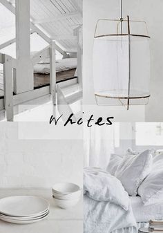 Draw inspiration from Mother Nature I find white and grey so calming and serene. Shades Of White, 50 Shades, Cosy Bedroom, Rustic White, White Rooms, White Space, Apartment Living, White Light, French Interiors