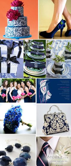 Something Blue Wedding Inspiration Board