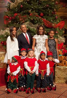 First Lady Michelle Obama and President Barack Obama at the Christmas in Washington concert