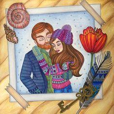 Mr & Mrs Sagolikt  Another fun colour along!  #sagoliktcoloralong #sagolikt #emelielidehällöberg  #coloringin #bayan_boyan #coloring_repost
