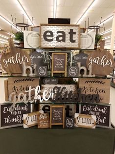 Not all decor must be seasonal. Hobby Lobby sales adorable things which you cann… Not all decor must be seasonal. Hobby Lobby sales adorable things which you cannot find anywhere else and this farmhouse decor doesn't disappoint. Farmhouse Side Table, Country Farmhouse Decor, Farmhouse Style Kitchen, Country Kitchen, Modern Farmhouse, Big Kitchen, Awesome Kitchen, Farmhouse Baskets, Maple Kitchen
