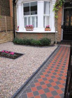 Garden patio tiles front porches Ideas - Garden Easy Garden patio tiles front porches 33 Ideas G Garden Design, House Front, Front Garden, Small Front Gardens, Front Patio, Porch Tile, Front Path, Shade Garden Design, Patio Tiles