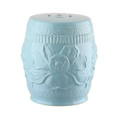 Safavieh KID4503 Little Lotus Kids Ceramic Garden Stools Blue Home ($55) ❤ liked on Polyvore featuring home, outdoors, patio furniture, outdoor stools, blue, garden decor, garden stools, home decor, asian garden stool and ceramic garden stools