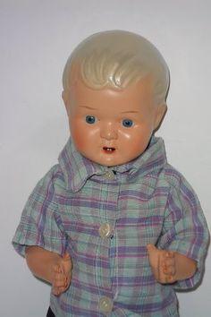 Antigua Muñeca bebe de celuloide de los años 50 marcada