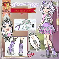 Today on I'm sharing with you some OCs a collection called School Clubs™. This collection was originally made by Ever After High, Character Questions, Disney Villains Art, Monster High Art, Audrey Rose, Ever After Dolls, School Clubs, Anime Dress, Monster Dolls