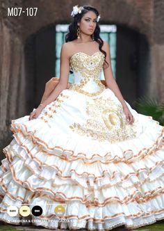 Ruffled Charro Quinceanera Dress by Ragazza Fashion Style M07-107