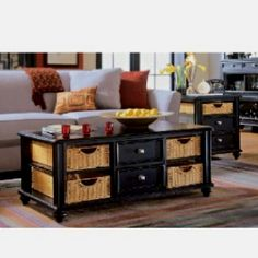 American Drew Camden coffee table - available in white or black