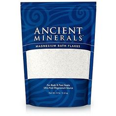 Bath Salts: Ancient Minerals Magnesium Bath Flakes, 8Lb BUY IT NOW ONLY: $37.0